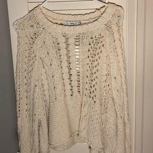 Zara beige knit sweater